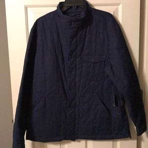 Crown and Ivy Men's Quilted Coat Sz Large Navy
